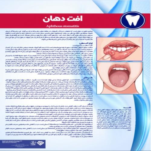 پوستر افت دهان - مجموعه پوسترهای دندانپزشکی